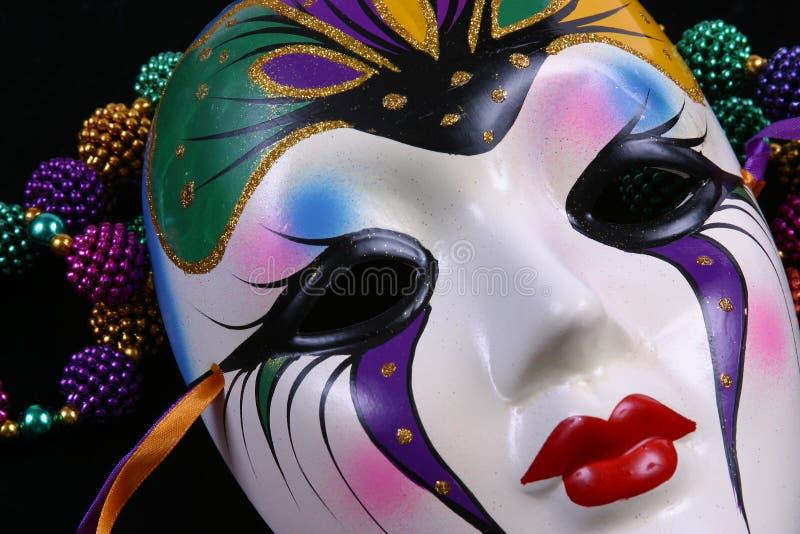 Mardi Gras Mask Closeup stock photos
