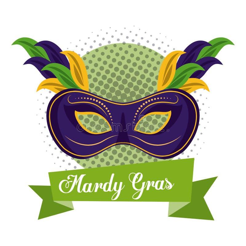 Mardi gras mask vector illustration