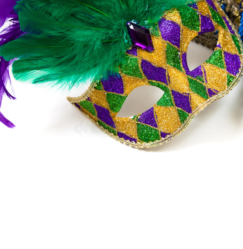 Mardi gras mask on a white background stock photos