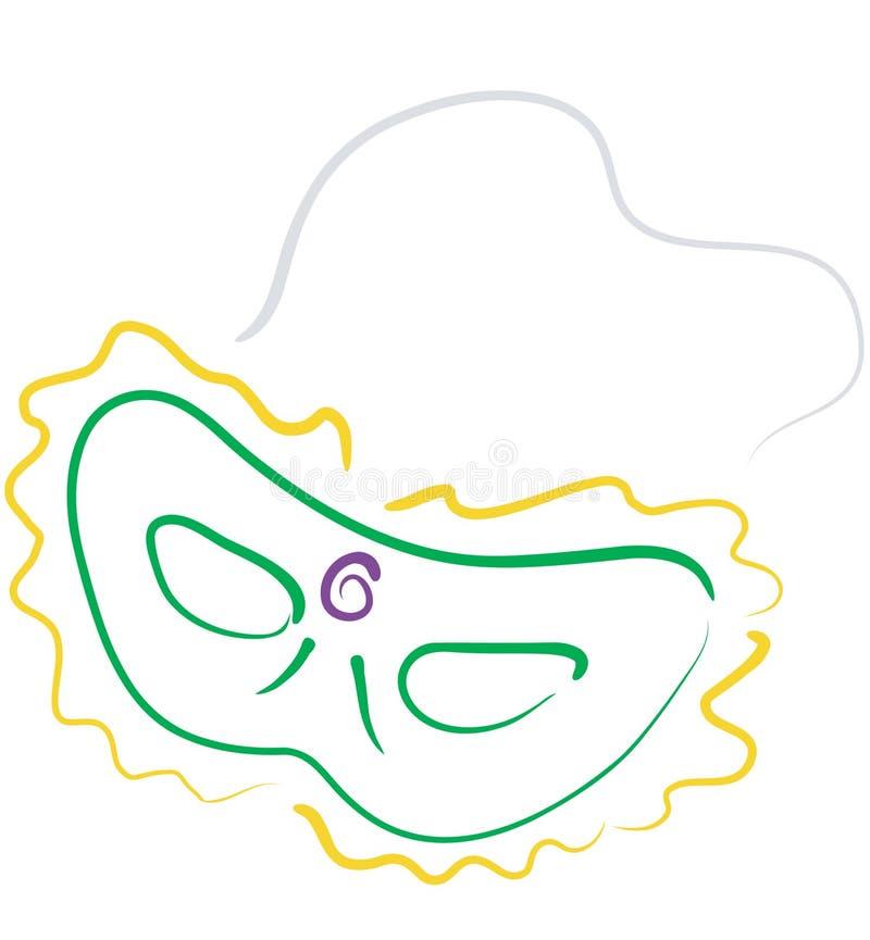 Download Mardi Gras mask2 stock illustration. Image of orleans, catch - 517319