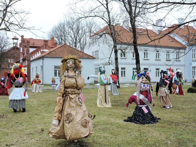 Mardi Gras maskeringsfestival, Litauen arkivbilder