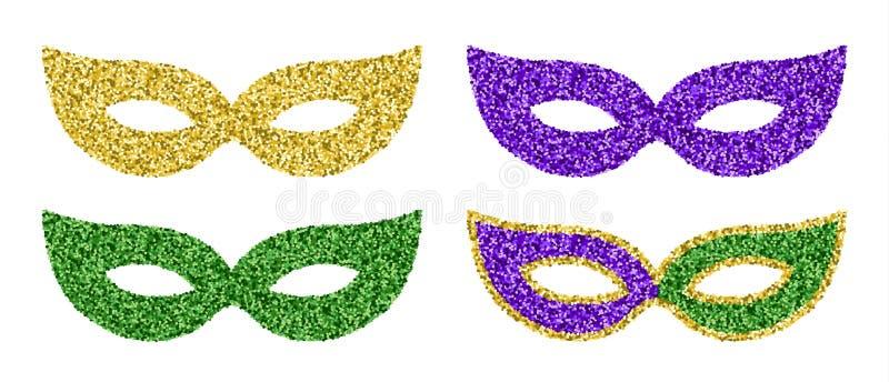 Mardi Gras Masks illustrazione vettoriale