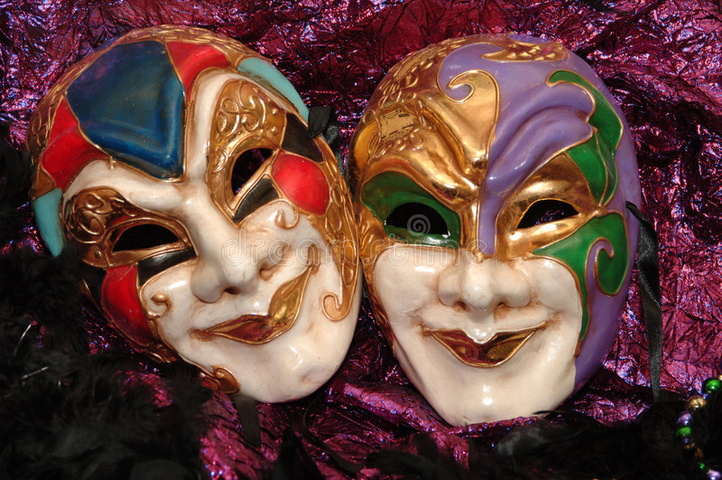 Mardi-gras masks. A shot of mardigras masks