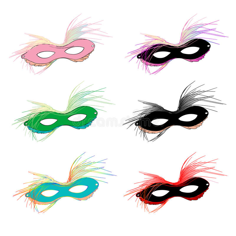 Download Mardi Gras masks stock vector. Image of stage, night - 23065642