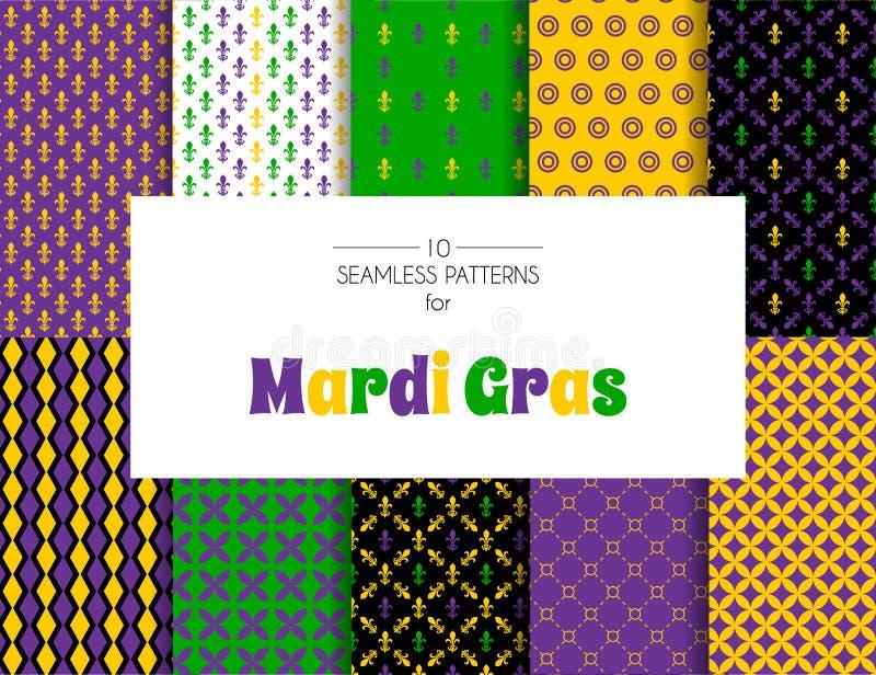 Mardi Gras-Musterhintergründe vektor abbildung