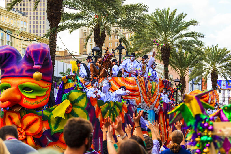Mardi Gras New Orleans. royalty free stock photo