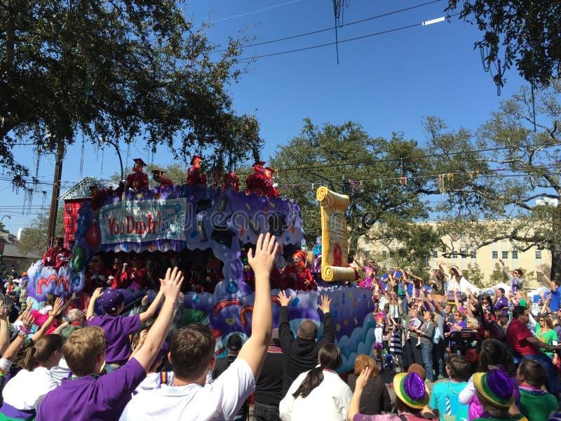 Mardi Gras Parade 2015 fotografie stock libere da diritti