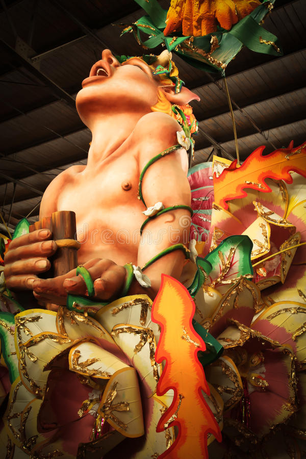 Mardi Gras Parade Float. Image of Mardi Gras parade float in New Orleans stock photo