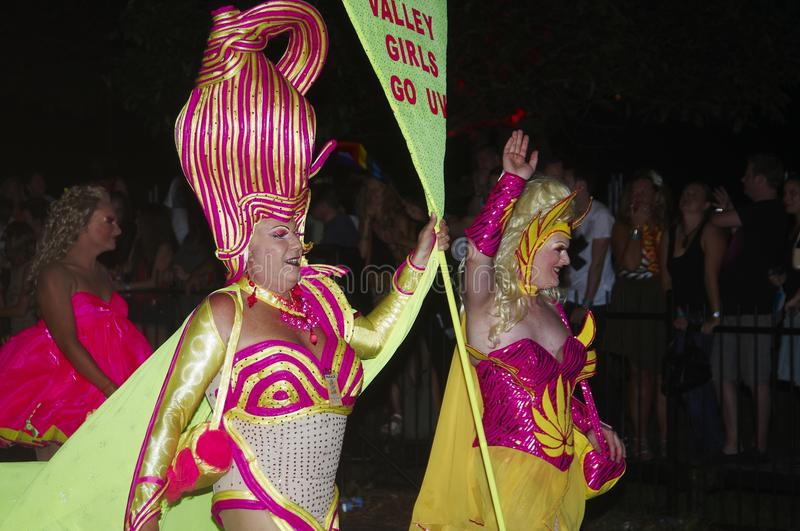 Mardi Gras Parade in Sydney. The Mardi Gras parade in Sydney is celebrated every year in february in the streets of the City. Is a proud celebration of the gay stock photos