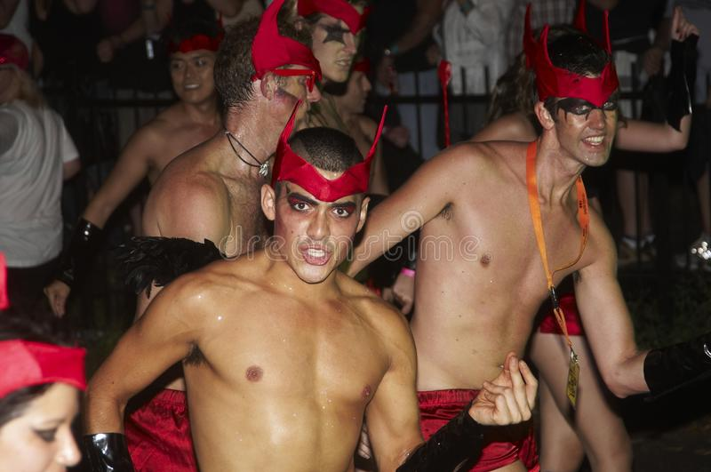 Mardi Gras Parade, Sydney. The Mardi Gras parade in Sydney is celebrated every year in february in the streets of the City. Is a proud celebration of the gay royalty free stock photo