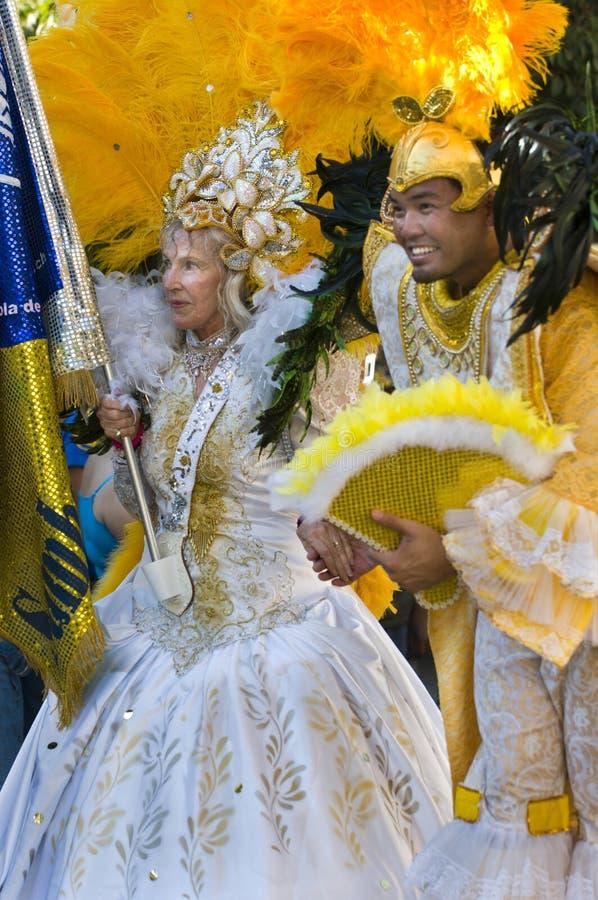 Mardi Gras participants royalty free stock photography