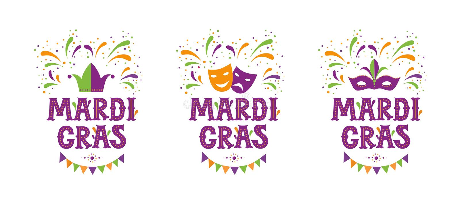 Mardi gras carnival party design royalty free stock image