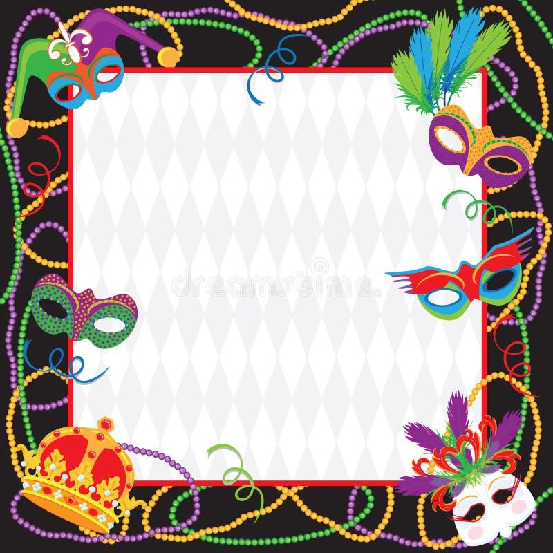 Mardi Gras Party Invitation vector illustration