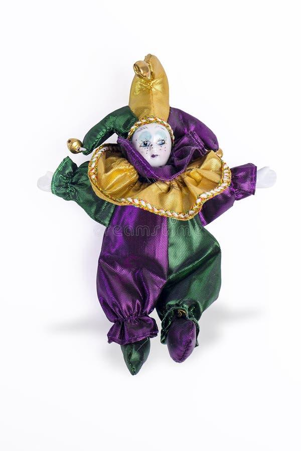 Mardi Gras Porcelain Doll stock photos