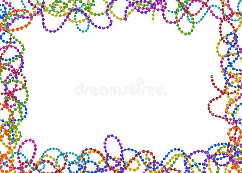 Mardi Gras pryder med pärlor royaltyfri illustrationer