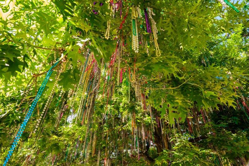 Mardi Gras pryder med pärlor royaltyfri fotografi