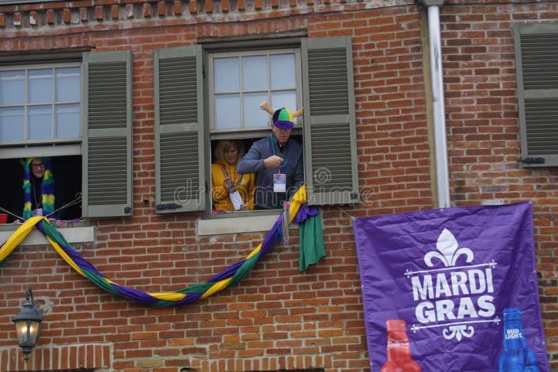 Mardi Gras Soulard St Louis 2019 royaltyfri foto