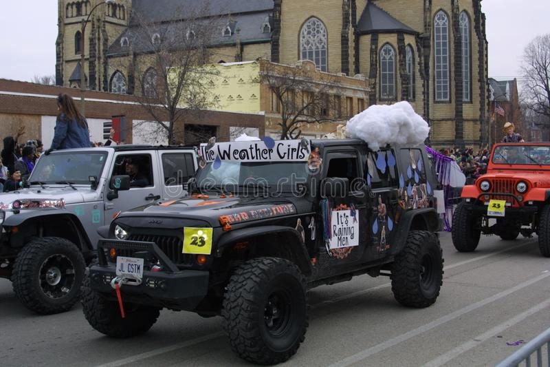 Mardi Gras Soulard St. Louis 2019 royalty free stock images