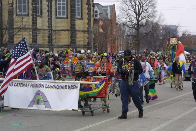 Mardi Gras Soulard St. Louis 2019 royalty free stock photos