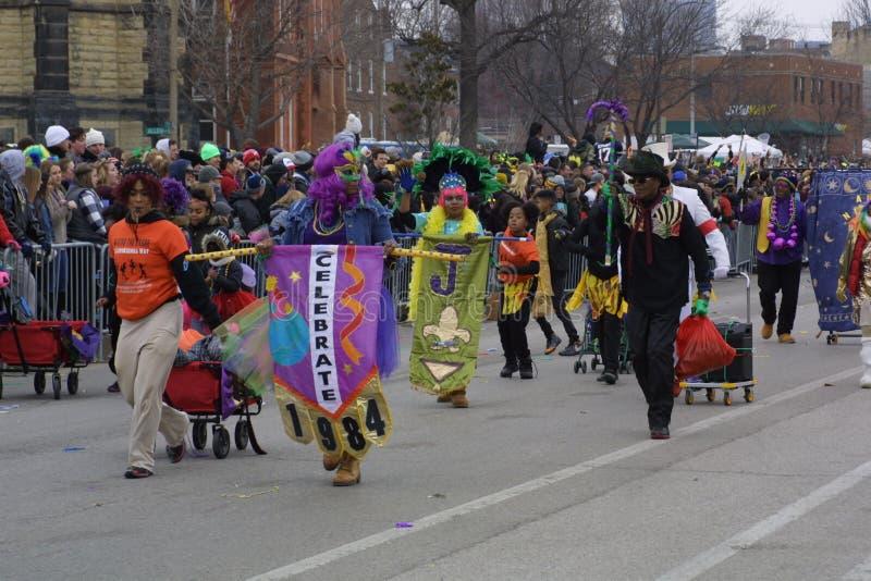 Mardi Gras Soulard St Louis 2019 fotos de stock