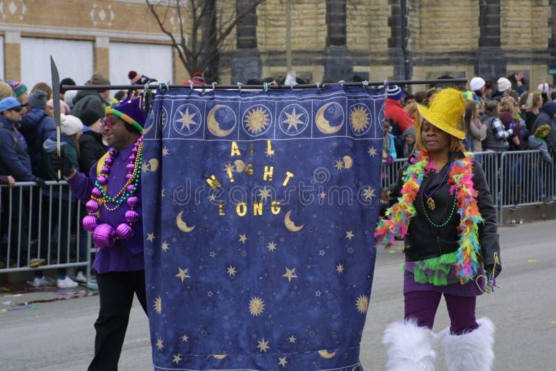 Mardi Gras Soulard St Louis 2019 royaltyfria bilder