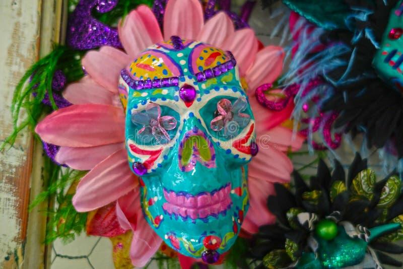 Mardi Gras Sugar Skull images stock