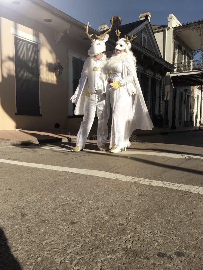 Mardi Gras Wedding fotografía de archivo libre de regalías
