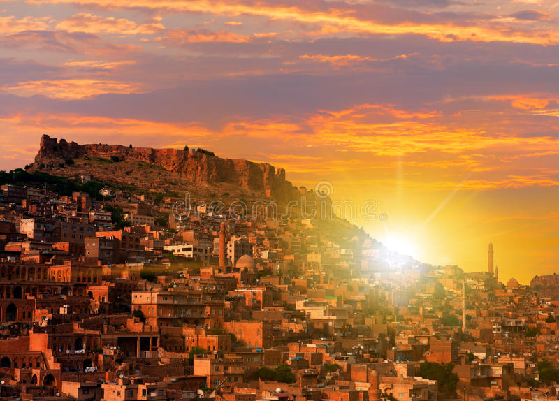 Mardin old town stock images