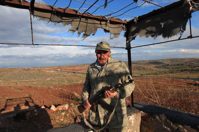 Kurdish paramilitärt royaltyfria bilder