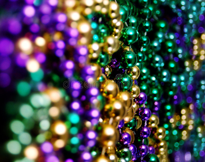 Free Mardis Gras Beads Stock Images - 510094