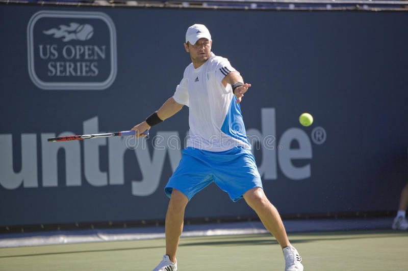 Mardy Fish At The Los Angeles Tennis Open Editorial Photography