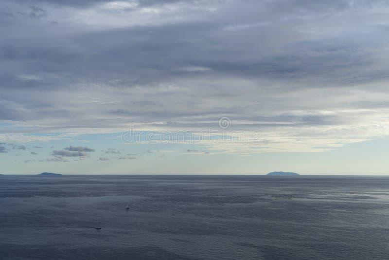 Mare adriatico Croazia, l'8 ottobre 2017 immagini stock