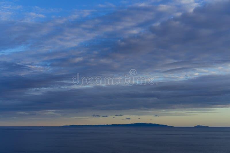 Mare adriatico Croazia, l'8 ottobre 2017 fotografia stock libera da diritti