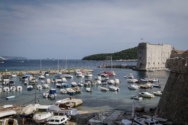 Mare adriatico di Ragusa, Croazia fotografia stock