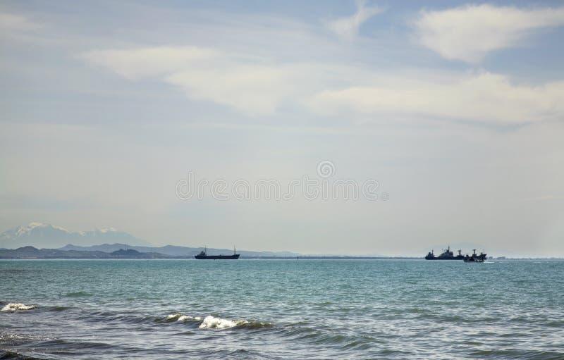 Mare adriatico a Durres l'albania fotografia stock libera da diritti