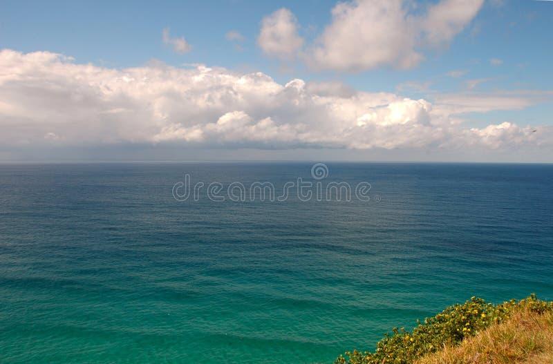 Mare & cielo - baia di Byron, Australia fotografie stock