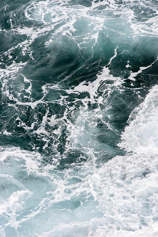 Mare atlantico di urlo con i turbinii dell'onda da sopra nel Madera Funchal, Portogallo immagini stock libere da diritti
