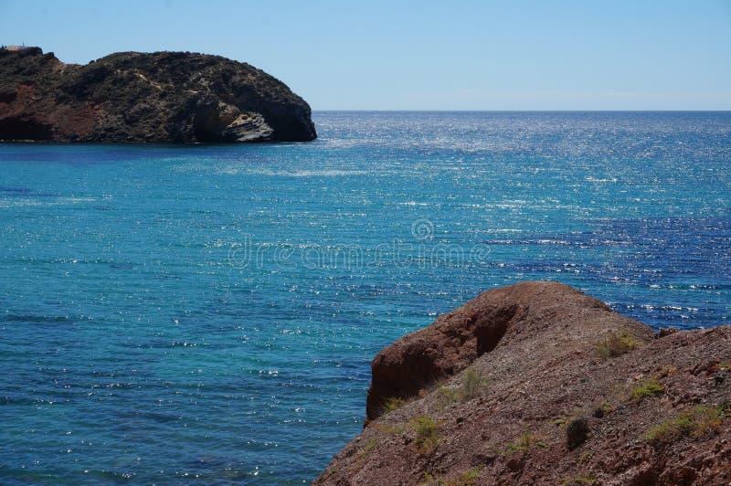 Mare blu Mediterraneo immagine stock