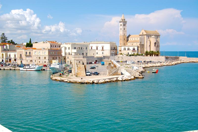 Town italy port stock image