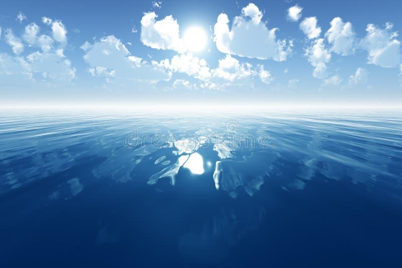 Mare Calmo Blu Immagini Stock Libere da Diritti