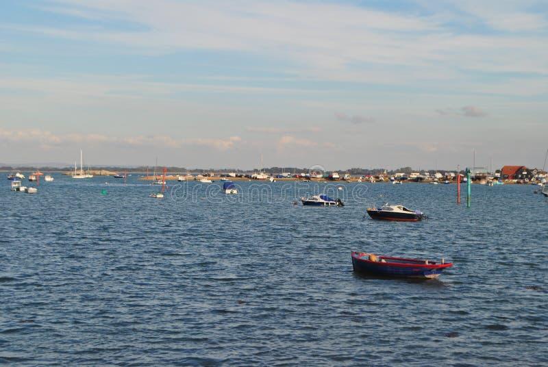 Mare con le barche immagini stock libere da diritti