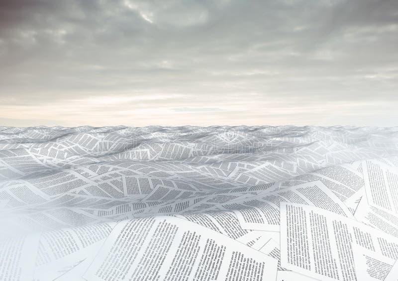 mare dei documenti sotto le nuvole del cielo royalty illustrazione gratis