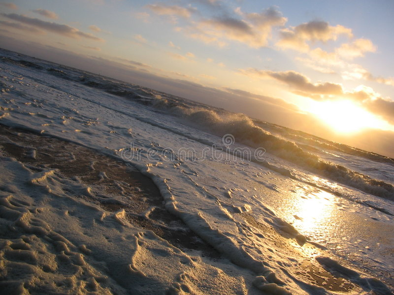 Mare del Nord in inverno fotografia stock