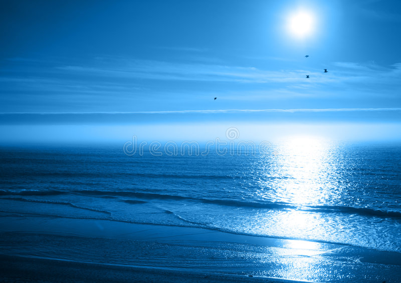 Mare dell'azzurro di oceano fotografie stock libere da diritti
