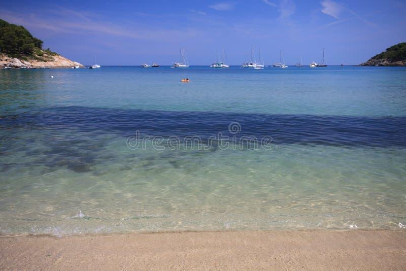 Mare dell'Elba fotografie stock libere da diritti
