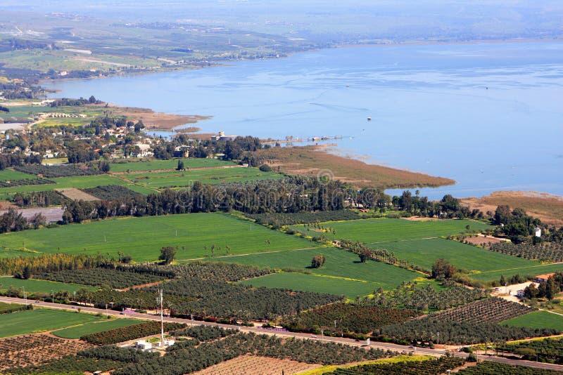 Mare della Galilea, Israele immagini stock libere da diritti