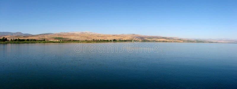 Mare della Galilea panoramico fotografie stock libere da diritti