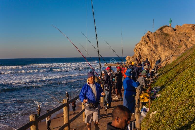 Mare di alba di stagione dei pescatori fotografia stock libera da diritti
