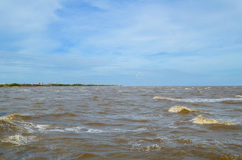 Mare di Bangpakong in paese Tailandia fotografie stock