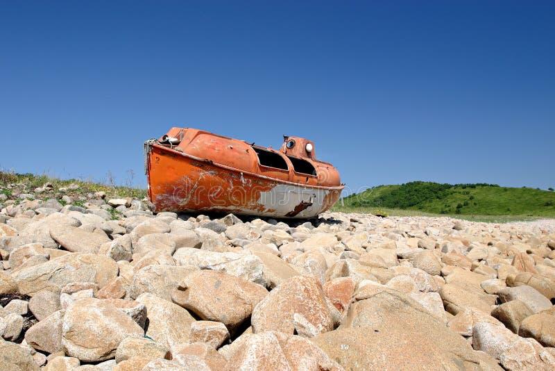 Mare di Giappone. Barca sicura 4 fotografie stock libere da diritti